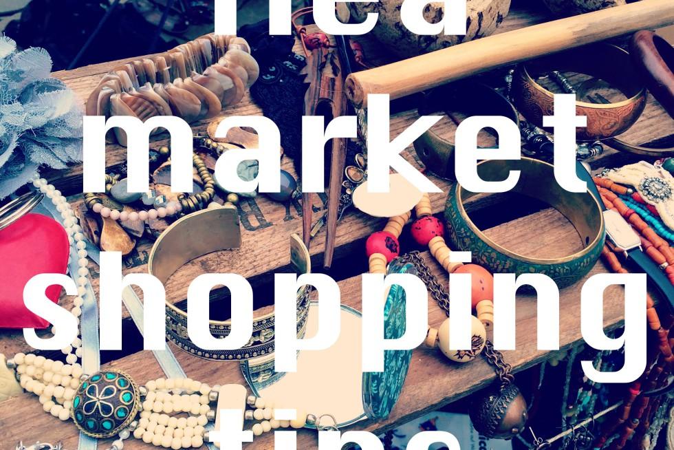 fleamarket shopping tips