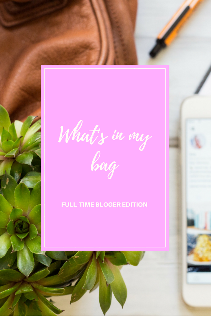 what's in my bag pinterest